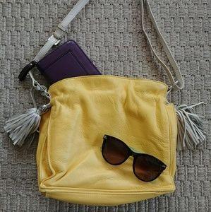 Beautiful New Yellow Brighton Leather Handbag